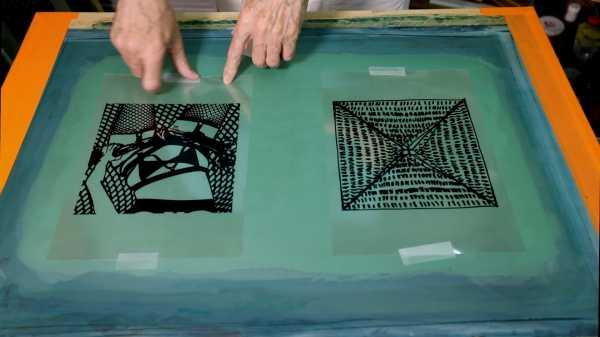 Jean-Pierre Sergent Video-Portrait #84   Artist exposing the screens of the Shakti-Yoni: Ecstatic Cosmic Dances series