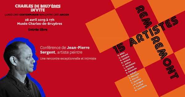 CONFÉRENCE DE L'ARTISTE JEAN-PIERRE SERGENT LE 28 AVRIL À 17h