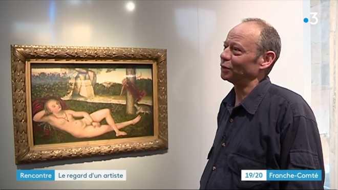 Reportage de France 3 Franche-Comté pour l'exposition au MBAA de Besançon