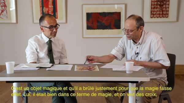 Interview of artist Jean-Pierre Sergent with Nicolas Surlapierre, director of MBAA, Besançon - 4/4
