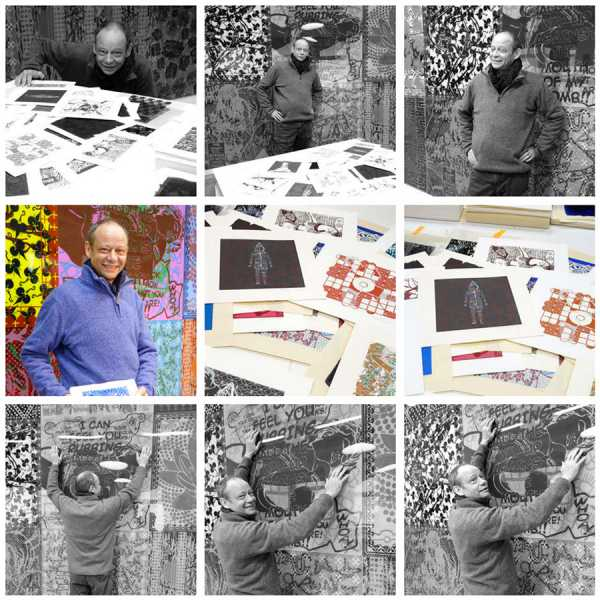 The artist Jean-Pierre Sergent in his Studio. Photos by Christine Chatelet, September 19th 2017
