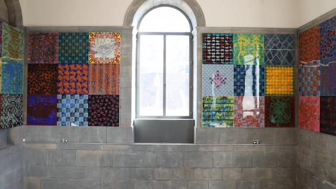 Présentation de l'exposition Les 4 piliers du ciel de Jean-Pierre Sergent