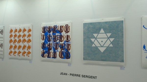 Jean-Pierre Sergent, VIEW OF THE WOPART 2019 EXHIBITION (Work on Paper Art Fair) OF LUGANO WITH THE KELLER GALERIE