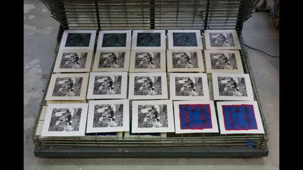 Jean-Pierre Sergent-AT WORK: SILK-SCREENING THE SHAKTI-YONI SERIES | PITCH-ART #10 | 11.22.2019