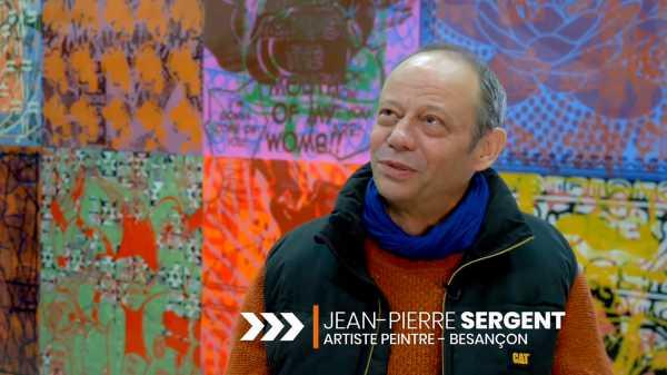Video Portrait of artist Jean-Pierre Sergent by Vincent Vernier
