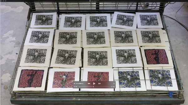 Jean-Pierre Sergent, AT WORK III PART 48: SILK SCREENING THE IMAGES #44