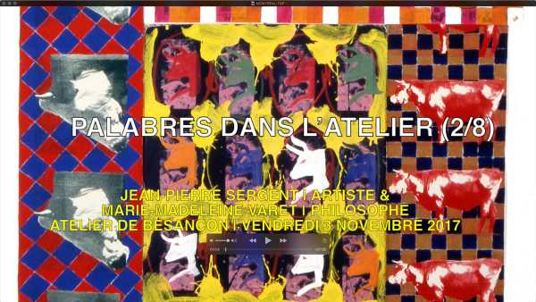 """""""ENDLESS DISCUSSIONS IN THE STUDIO"""" (2/8) INTERVIEW BETWEEN JEAN-PIERRE SERGENT & MARIE-MADELEINE VARET 