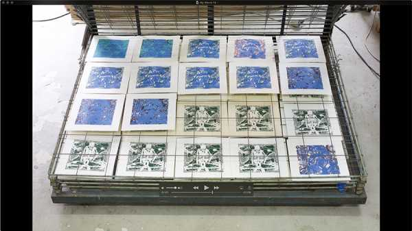Jean-Pierre Sergent  AT WORK III PART 12: SILK SCREENNING THE IMAGES #8
