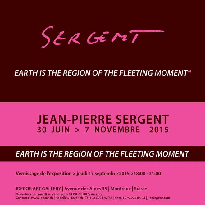 EARTH IS THE REGION OF THE FLEETING MOMENT