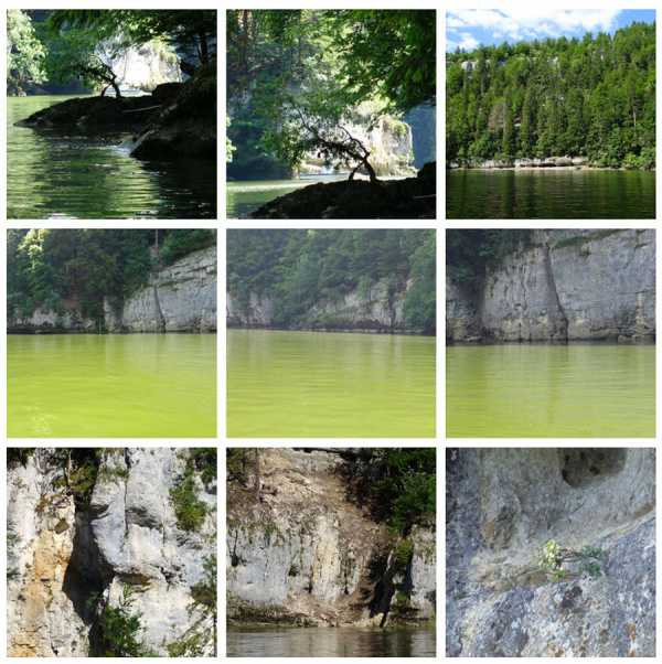 Water, Rocks, Trees & Skies, photos from canoe trips over the Doubs River
