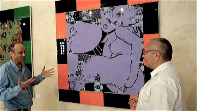 4/4 : Discussion devant la peinture de la série des Suites Entropiques : Les deux amies