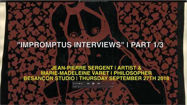'INPROMPTU INTERVIEWS' | JEAN-PIERRE SERGENT & MARIE-MADELEINE VARET | 1st PART