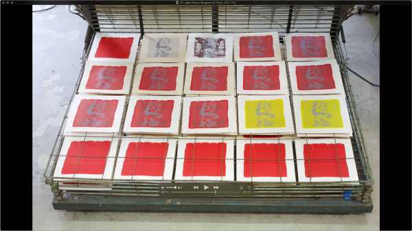 Jean-Piere Sergent, AT WORK III PART 37: SILK SCREENING THE IMAGES #33