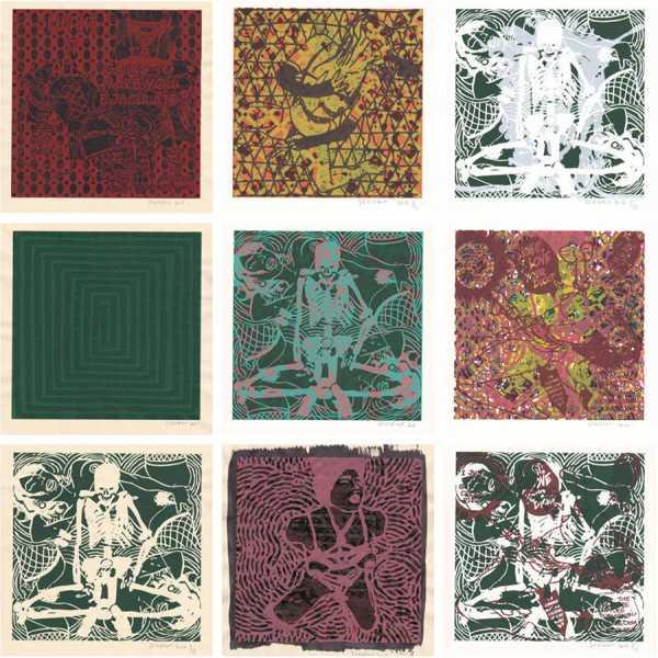 Jean-Pierre Sergent, Photos des oeuvres de la série des « Shakti-Yoni, Ecstatic Cosmic Dances »