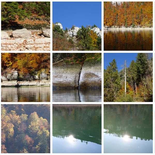 """Jean-Pierre Sergent, """"Water, Rocks, Trees & Skies"""" #4, photos from canoe trips over the Doubs River"""
