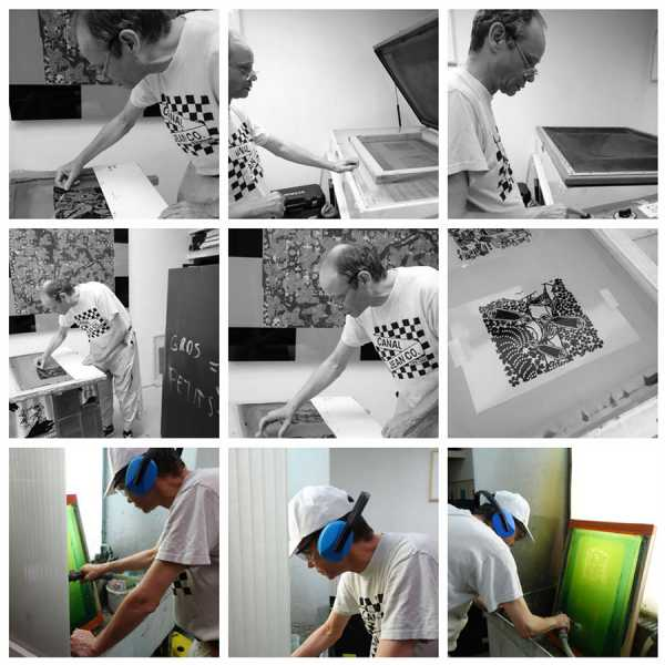"""Jean-Pierre Sergent, PHOTOS OF THE WORKS ON PAPER ON THE """"SHAKTI-YONI, ECSTATIC COSMIC DANCES"""" SERIES #5"""