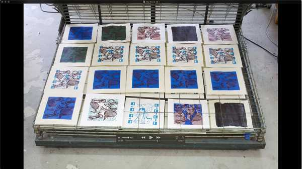 Jean-Pierre Sergent, AT WORK III PART 25: SILK SCREENING THE IMAGES #21