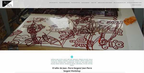 """El taller de Jean- Pierre Sergent / Jean Pierre Sergent Workshop"". Article by Melina Piterbarg for Aura Art"