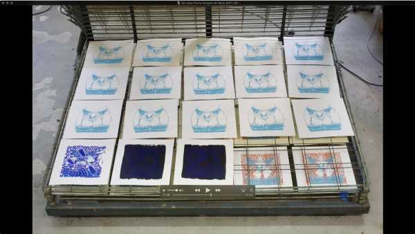 Jean-Pierre sergent, AT WORK III PART 33: SILK SCREENING THE IMAGES #29