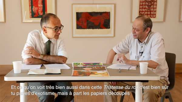 Interview artist Jean-Pierre Sergent with Nicolas Surlapierre, director of MBAA, Besançon - 1/4