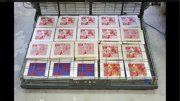 Jean-Pierre Sergent, AT WORK III PART 24: SILK SCREENING THE IMAGES #20