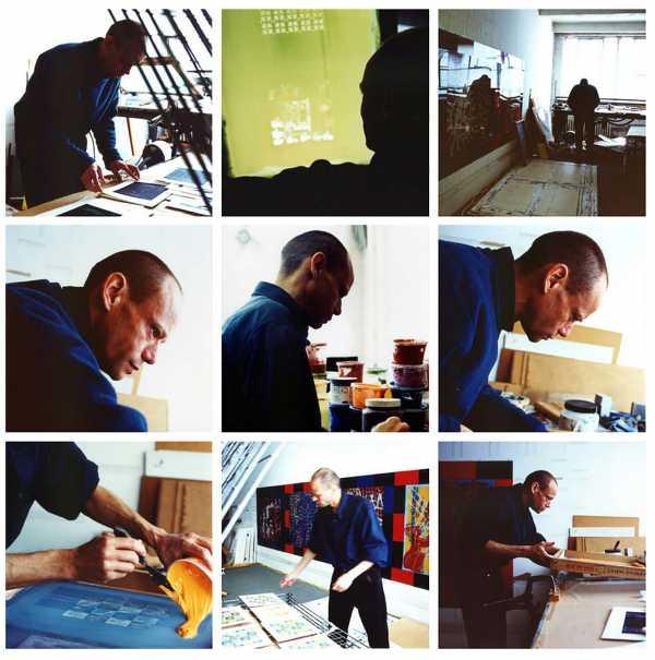 Portraits of artist Jean-Pierre Sergent at work by photographer Sachie Kumano