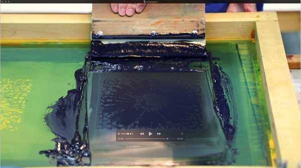Jean-Pierre sergent, Portrait of the artist screen-printing the 'Shakti-Yoni: Ecstatic Cosmic Dances' Series #43