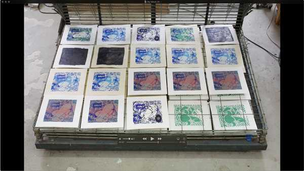 JEAN-PIERRE SERGENT, AT WORK III PART 22: SILK SCREENING THE IMAGES #18