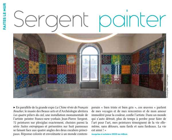NEW ARTICLE IN BVV MAGAZINE: SERGENT PAINTER (MUSEUM OF FINE ARTS BESANÇON)