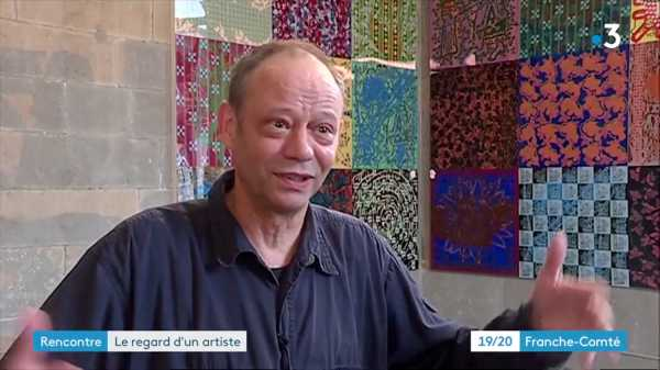 JEAN-PIERRE SERGENT INTERVIEWED BY FR3 19/20 FRANCHE-COMTE TV FOR HIS EXHIBITION AT THE MBAA OF BESANÇON