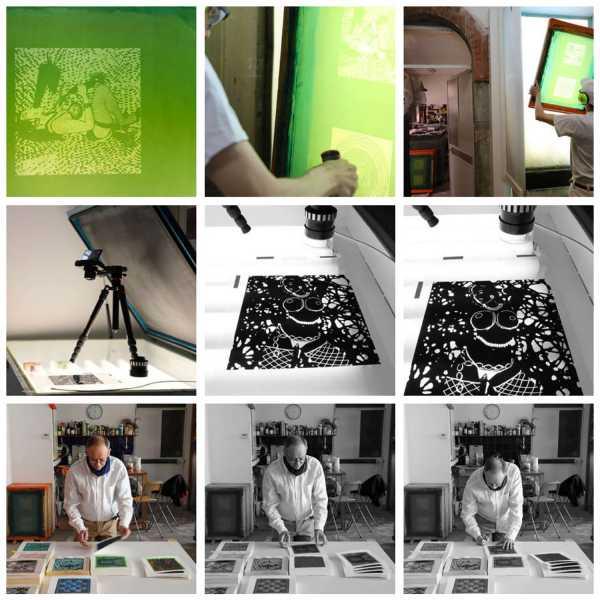 Jean-Pierre sergent, Portraits of the artist working on the Shakti-Yoni: Ecstatic Cosmic Dances Series (2019)