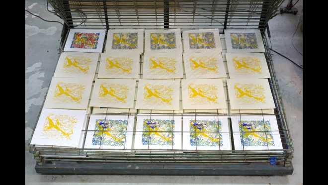 Pitch-Art #20 - Au travail : sérigraphier les images de la série Shakti-Yoni: Ecstatic Cosmic Dances