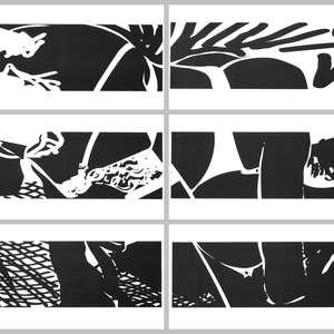 Image 112 - Half Paper 1997/2003,  monoprint, acrylic silkscreened on BFK Rives paper, 61 x 107 cm., JP Sergent