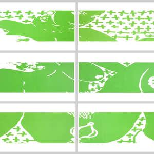 Image 110 - Half Paper 1997/2003,  monoprint, acrylic silkscreened on BFK Rives paper, 61 x 107 cm., JP Sergent
