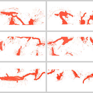 Image 111 - Half Paper 1997/2003,  monoprint, acrylic silkscreened on BFK Rives paper, 61 x 107 cm., JP Sergent