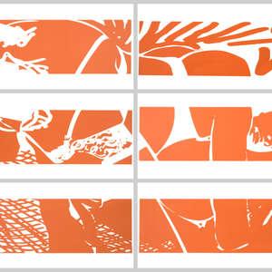 Image 109 - Half Paper 1997/2003,  monoprint, acrylic silkscreened on BFK Rives paper, 61 x 107 cm., JP Sergent