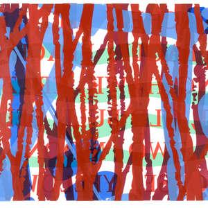 Image 105 - Half Paper 1997/2003,  monoprint, acrylic silkscreened on BFK Rives paper, 61 x 107 cm., JP Sergent
