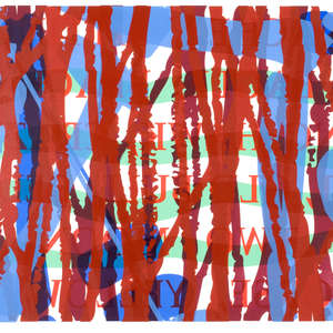 Image 105 - Half Paper 1997/2003,  monoprint, acrylic silkscreened on BFK Rives paper, 61 x 107 cm., JP Sergent