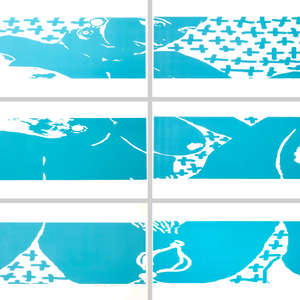 Image 108 - Half Paper 1997/2003,  monoprint, acrylic silkscreened on BFK Rives paper, 61 x 107 cm., JP Sergent