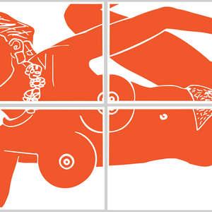 Image 106 - Half Paper 1997/2003,  monoprint, acrylic silkscreened on BFK Rives paper, 61 x 107 cm., JP Sergent