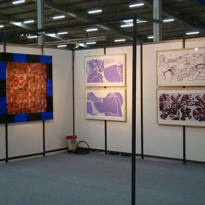 Image 8 - View of the stands, Biennale de Besançon 2009, JP Sergent