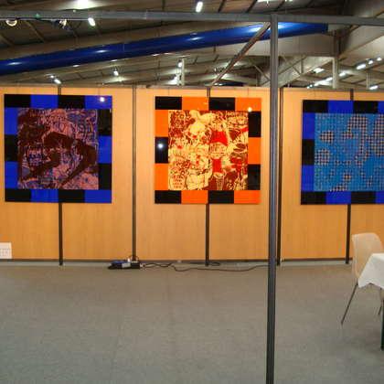 Image 4 - Vue des stands, Biennale de Besançon, 2011, JP Sergent