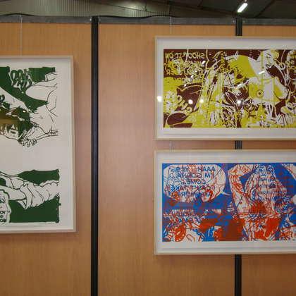 Image 6 - Vue des stands, Biennale de Besançon, 2011, JP Sergent