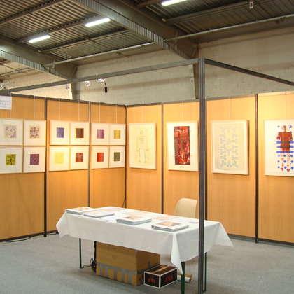 Image 1 - Vue des stands, Biennale de Besançon, 2011, JP Sergent