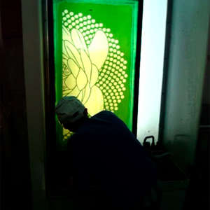 Image 60 - At work Plexiglas, JP Sergent