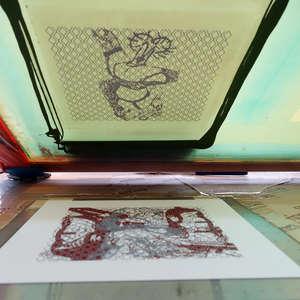 Image 76 - At Work on paper Shakti-Yoni-3-2017, JP Sergent