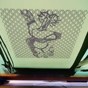 Image 77 - At Work on paper Shakti-Yoni-3-2017, JP Sergent
