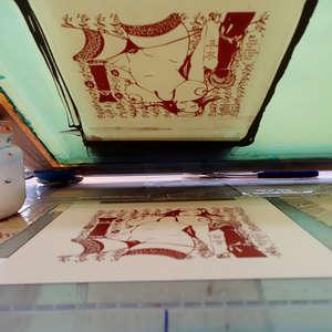 Image 293 - At Work on paper Shakti-Yoni-3-2017, JP Sergent
