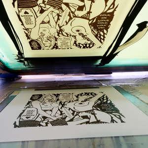 Image 16 - At Work on paper Shakti-Yoni-3-2017, JP Sergent