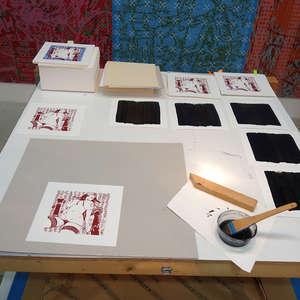 Image 202 - At Work on paper Shakti-Yoni-2018, JP Sergent